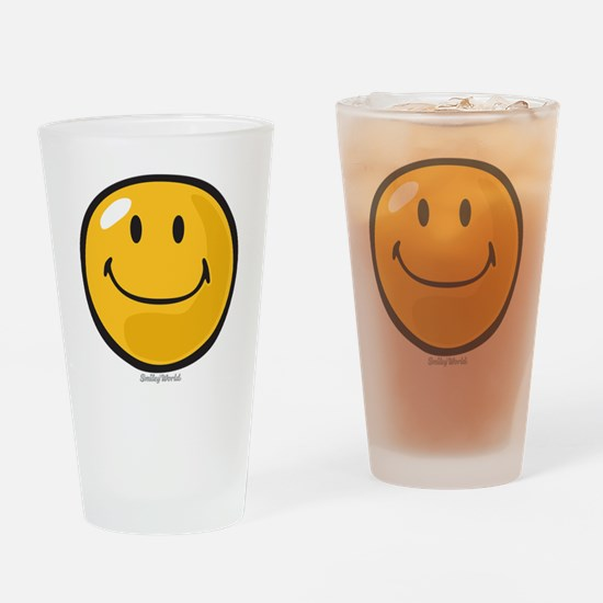 smug smiley Drinking Glass