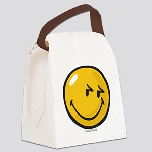 sneakiness smiley Canvas Lunch Bag