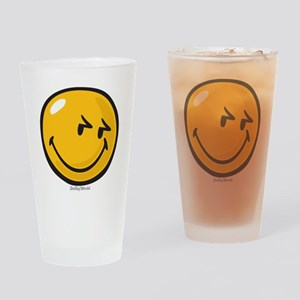 sneakiness smiley Drinking Glass