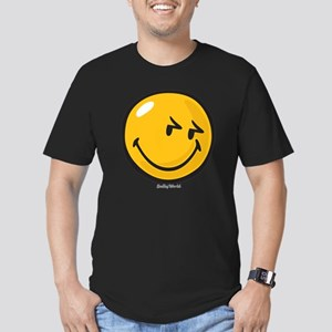 sneakiness smiley Men's Fitted T-Shirt (dark)