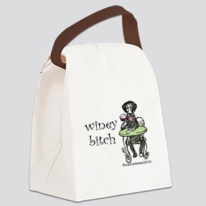 wineybitch Canvas Lunch Bag
