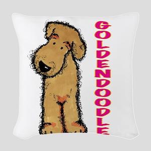 GOLDENDOODLEpink Woven Throw Pillow