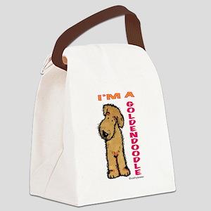 GOLDENDOODLEpink Canvas Lunch Bag