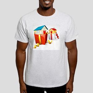 illustration of house in gift pack o Light T-Shirt