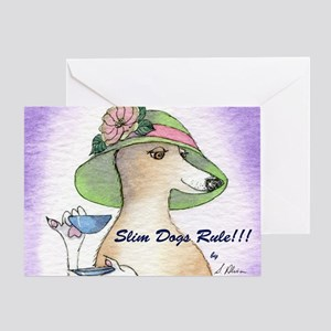 Slim Dogs Rule cover Greeting Card
