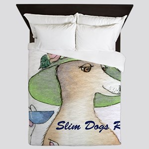 Slim Dogs Rule cover Queen Duvet