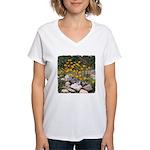 California Poppies Women's V-Neck T-Shirt