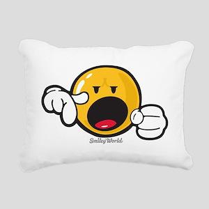 emphatic smiley Rectangular Canvas Pillow