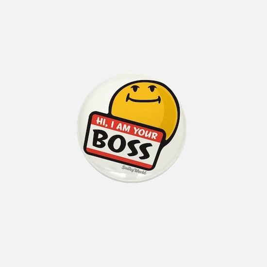superiority smiley Mini Button