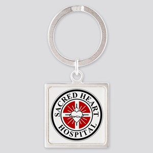 sacred heart logo Square Keychain