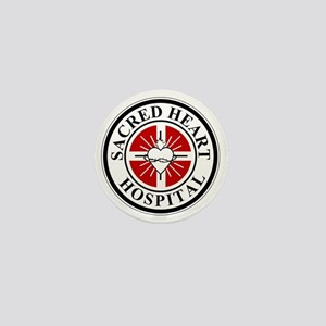 sacred heart logo Mini Button