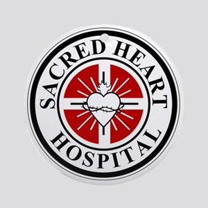sacred heart logo Round Ornament