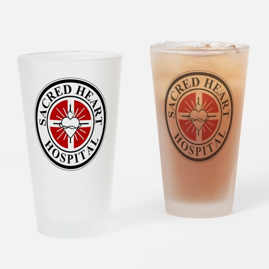 sacred heart logo Drinking Glass