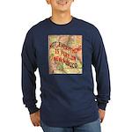 Flat New Mexico Long Sleeve Dark T-Shirt