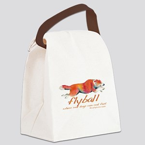 RealDogFlyball Canvas Lunch Bag