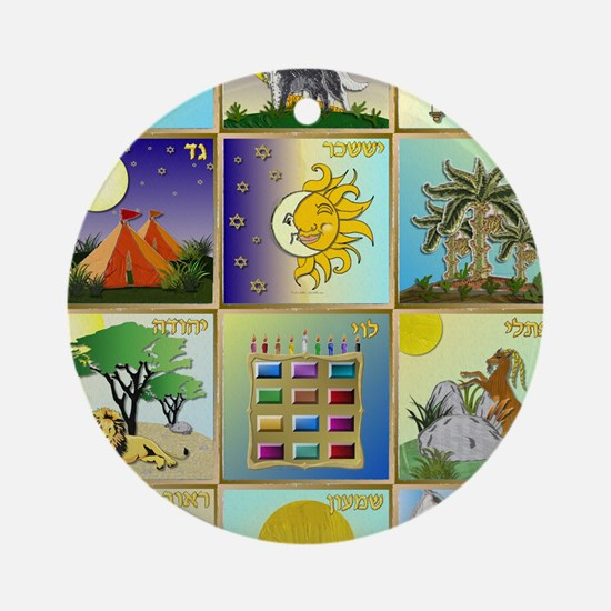 12 Tribes of Israel Round Ornament
