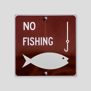 "No Fishing Square Sticker 3"" x 3"""