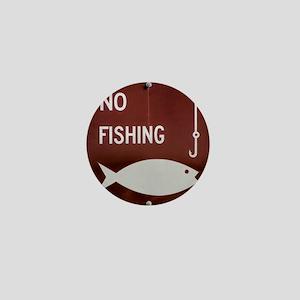 No Fishing Mini Button