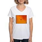 California Poppy Women's V-Neck T-Shirt