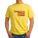 Flat Oklahoma Yellow T-Shirt