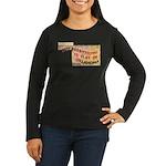Flat Oklahoma Women's Long Sleeve Dark T-Shirt