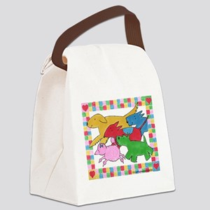 Herd o pups Canvas Lunch Bag