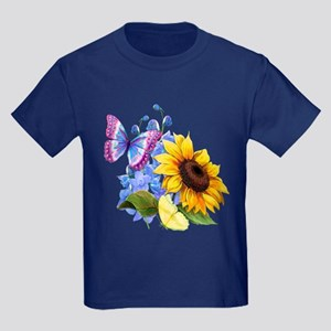 Sunflower Mix Kids Dark T-Shirt
