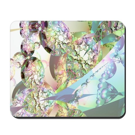 Wings of Angels Amethyst Crystals Mousepad