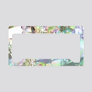 Wings of Angels Amethyst Crys License Plate Holder
