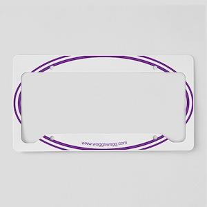 Adopt Purple License Plate Holder