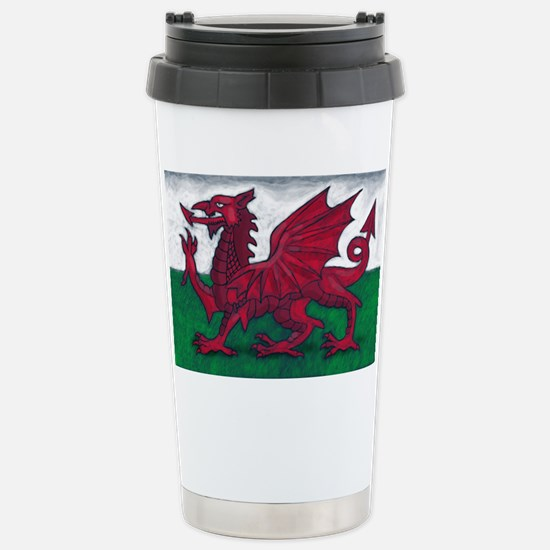 Wales Flag Stainless Steel Travel Mug