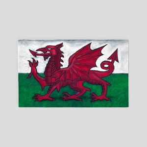Wales Flag 3'x5' Area Rug