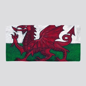Wales Flag Beach Towel