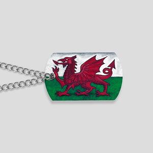 Wales Flag Dog Tags
