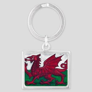 Wales Flag Landscape Keychain