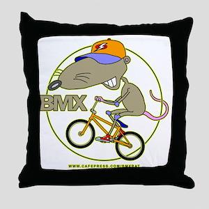 BMX-RAT Throw Pillow