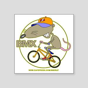 "BMX-RAT Square Sticker 3"" x 3"""