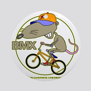 BMX-RAT Round Ornament