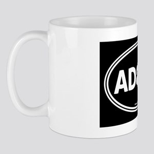 Adopt Black Solid Mug