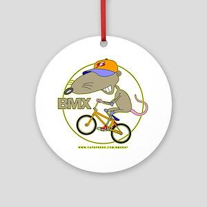 BMX-RAT Round Ornament