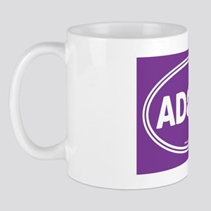 Adopt Purple Solid Mug