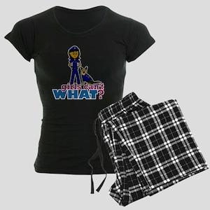 K-9 Police Woman Women's Dark Pajamas