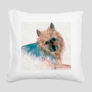 AustralianTerrier3 Square Canvas Pillow