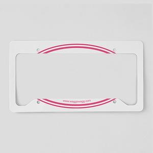 Adopt Pink License Plate Holder
