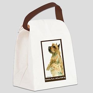 Red AustralianTerrierBeg Canvas Lunch Bag
