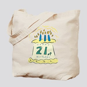 Happy 21st Birthday Tote Bag