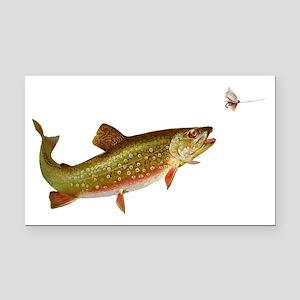 Vintage trout fishing illustr Rectangle Car Magnet