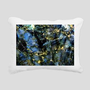 Small Labradorite Tray Rectangular Canvas Pillow