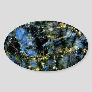 Small Labradorite Tray Sticker (Oval)