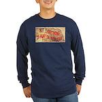 Flat Nebraska Long Sleeve Dark T-Shirt